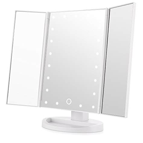 tri fold vanity mirror for bathroom useful reviews of video review easehold tri fold lighted vanity mirror