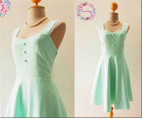 mint green swing dress invigorate your christmas party look in fresh mint green