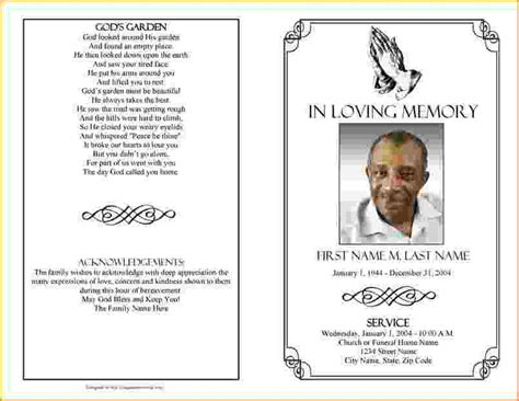 funeral biography template 4 funeral program template word teknoswitch