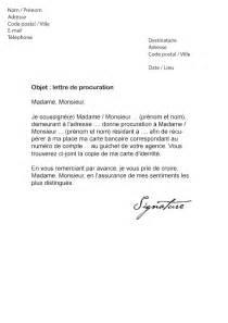 Lettre De Recommandation Bancaire Lettre De Procuration Carte Bancaire Mod 232 Le De Lettre