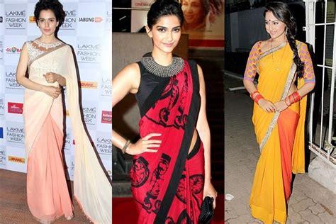 bollywood actress formal dress tips trciks for wearing a saree sareez blog