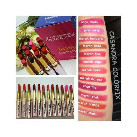 casandra colorfix lipstick bpom poriskosmetik