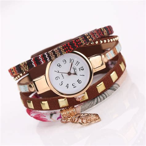 Jam Wanita Fashion duoya jam tangan fashion wanita dy066 brown jakartanotebook