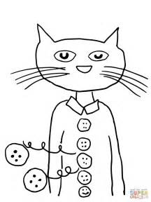 pete the cat coloring page pete the cat groovy buttons coloring page free printable