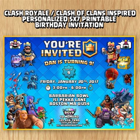 clash of clans printable birthday banner clash royale clash of clans supercell inspired