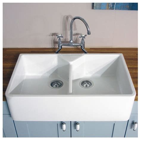 ceramic kitchen sinks bluci vecchio g10 double bowl ceramic sink sinks taps com