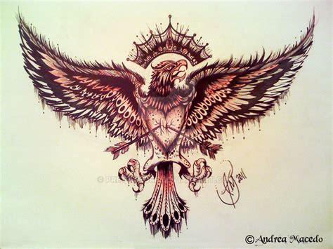 eagle tattoo deviantart commission eagle tattoo by prettygore on deviantart