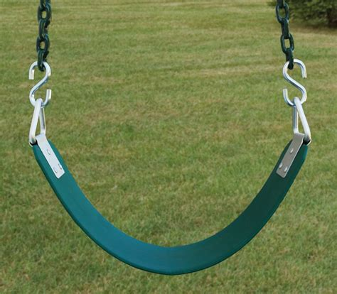 swing chains commercial belt swing seat with plastisol chain