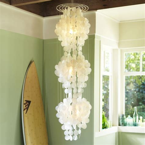 Like A Chandelier Nothing Says Glam Coastal Decor Like A Capiz Shell Chandelier Instead Of Going For A Classic