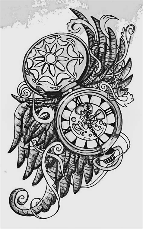 pocket watch tattoo images amp designs