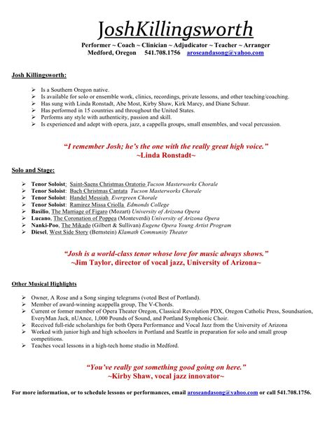 resume music best template collection