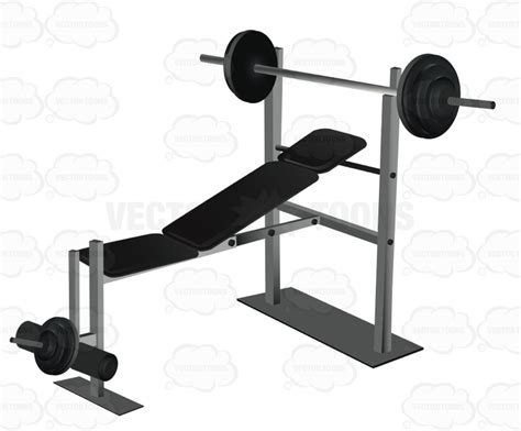 weight lift bench cartoon clipart weight lifting bench