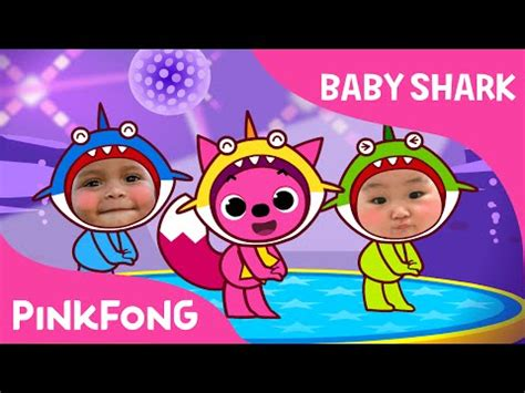 baby shark dance baby shark dance with kids wearing shark costumes