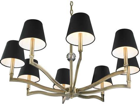 tuxedo chandelier golden lighting waverly aged brass eight light 34 wide chandelier with tuxedo shade go35008abgrm