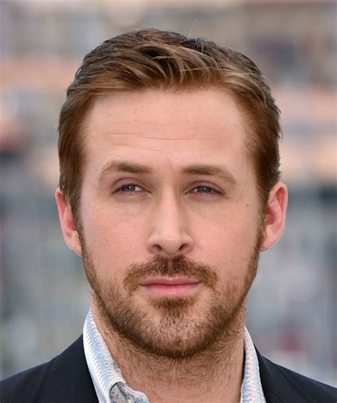 ryan goslings haircut ryan gosling short straight casual hairstyle light brunette
