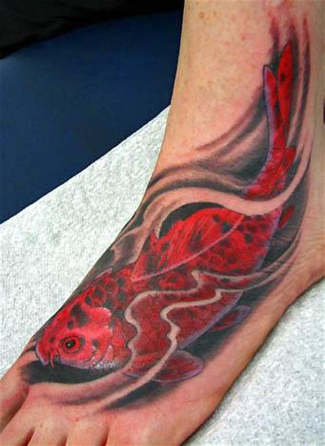 koi fish tattoo on foot koi fish tattoo ideas fish tattoos tattoo design and ideas
