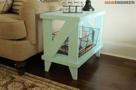 narrow cottage side table free diy plans cottages bedrooms and woodworking