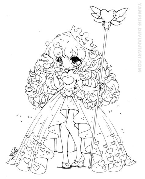 macaroon hikaru commission lineart by yuff on queen of hearts february contest lineart by yampuff