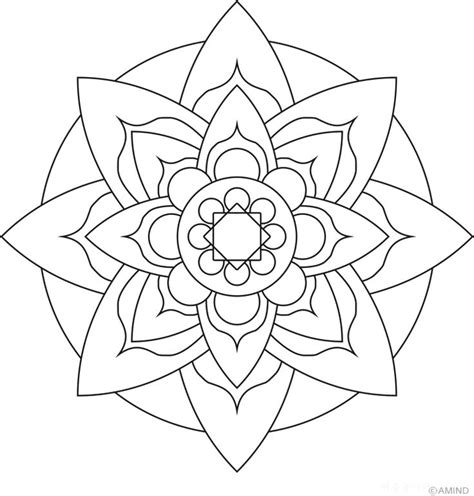 easy coloring pages flowers lotus flower mandala coloring pages easy flower mandala