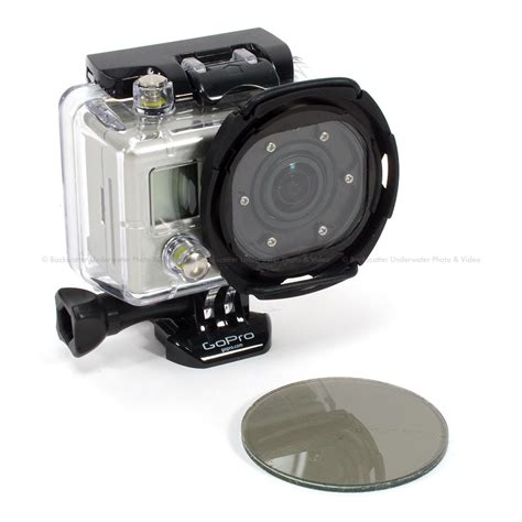 Filter Gopro backscatter custom gopro housing 55mm graduated polarizer