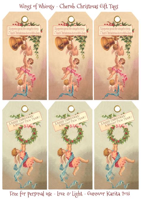printable victorian tags cherub christmas 1873 wings of whimsy