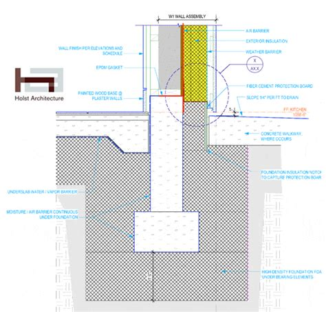 building foundation diagram karuna passive house details foundation hammer