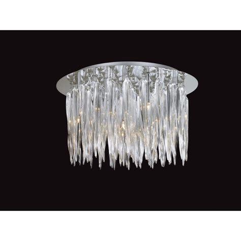 modern chrome and glass flush ceiling light ideal for