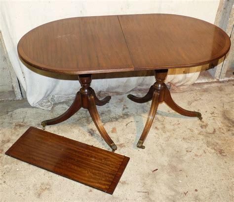 Reproduction Mahogany Dining Table A Reproduction Mahogany D End Pedestal Dining Table From P F Windibank