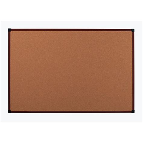 office depot brand framed cork board 36 x 24 mahogany