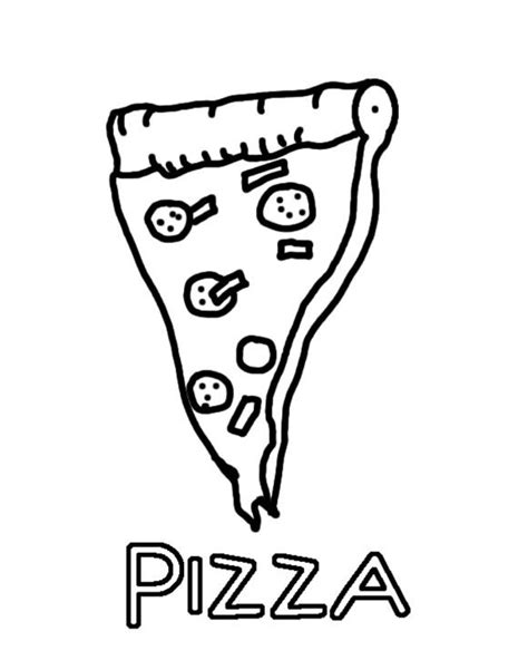 Pizza Colouring Pages Pizza Coloring Sheet Coloring Home by Pizza Colouring Pages
