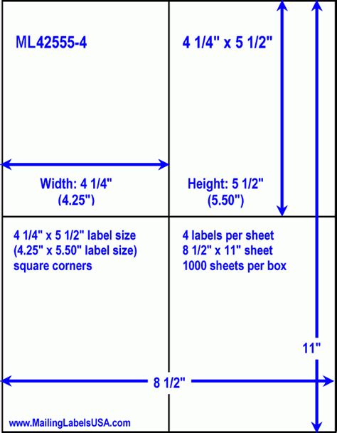 template for a 5 x 7 1 sheet note card shipping labels blank shipping labels similar to avery