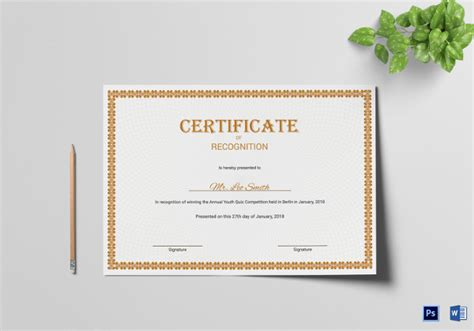 template photoshop certificate 38 word certificate templates free download free