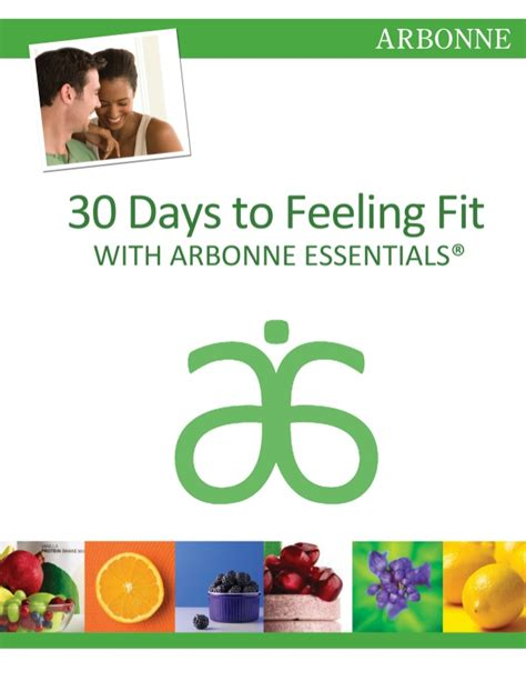 30 Days To Healthy Living Detox by 30 Days To Feeling Fit Guide Arbonne