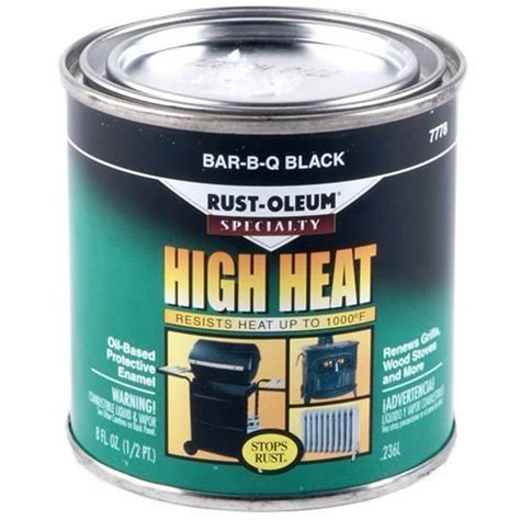 buy the rust oleum 7778730 bar b q black paint 1 2 pint hardware world
