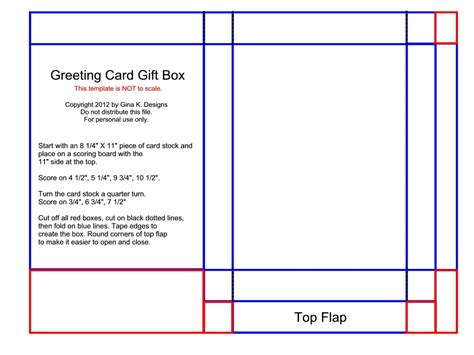 Template Card For by Greeting Card Gift Box Sttv