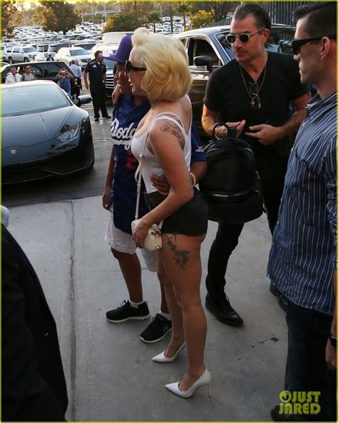 lade in serie gaga wears skin tight tank top shorts to