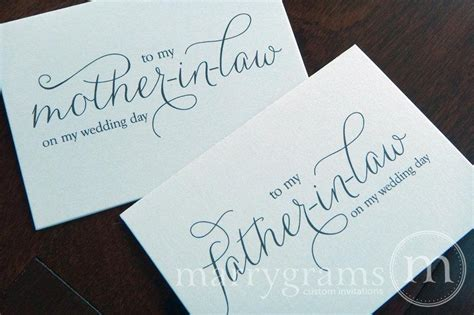thank you letter to parents from and groom wedding cards to your future and in