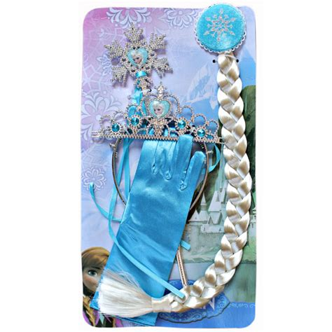 Sarung Tangan Frozen jual mahkota tongkat dan rambut sarung tangan elsa