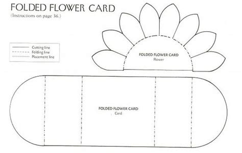 free fold it flower card template flower cards card templates and sunflower cards on