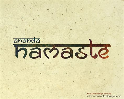 tattoo fonts hindi ananda namaste free font on behance