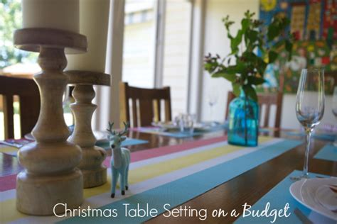how to create a fab christmas table setting on a budget style shenanigans