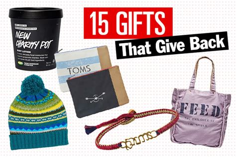 15 holiday gifts that give back charitable gift ideas
