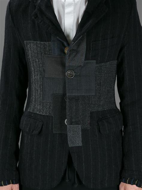 Patchwork Blazer - lyst junya watanabe patchwork blazer in black for