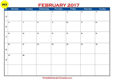 February Calendar February 2017 Calendar Printable Printable Calendar