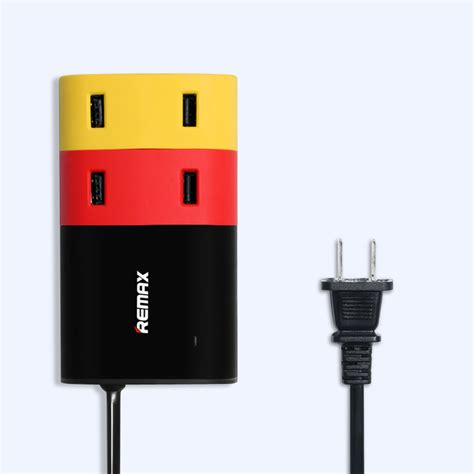 Murah Travel Charger 3 Output 1 Kabel jual beli sambungan kabel remax usb wall travel charger 4 port 6 2a black baru charger