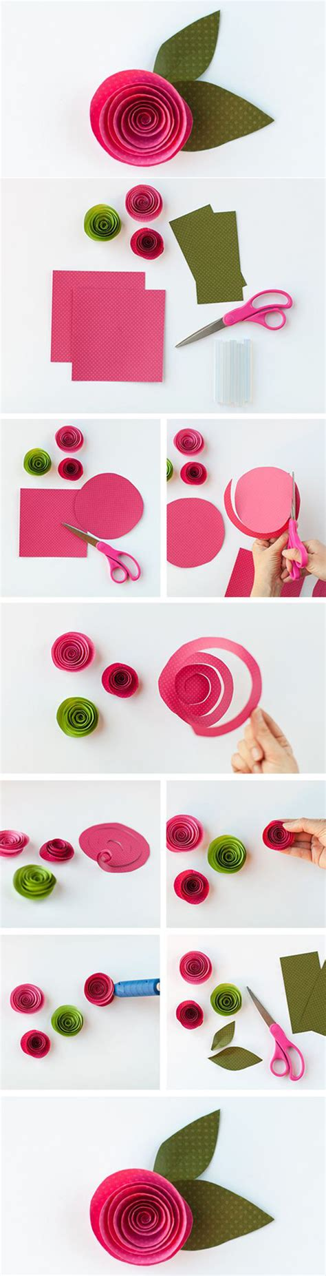 How To Make Paper Roses With Construction Paper - easy and beautiful paper flower best diy ideas