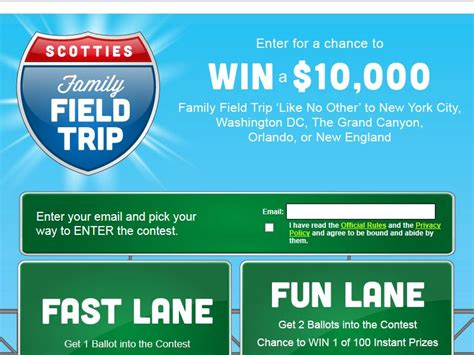 Scotties Sweepstakes - scotties family field trip sweepstakes