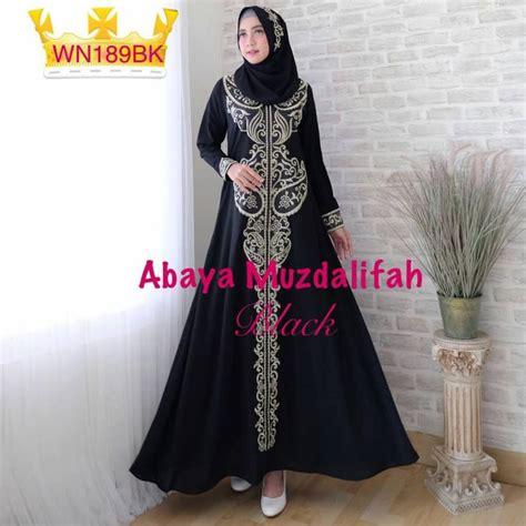 Gamis Abaya Bordir gamis pesta bordir abaya musdalifah baju muslim modern