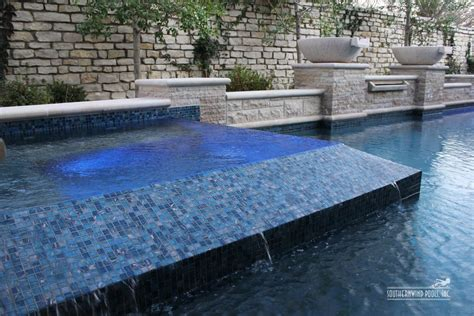 swimming pool tile ideas glass tile spa swimming pool and landscaping