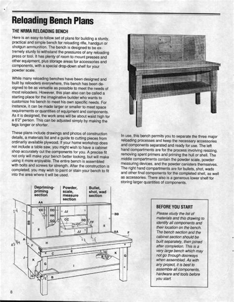 plans for reloading bench reloading benches plans rumah minimalis